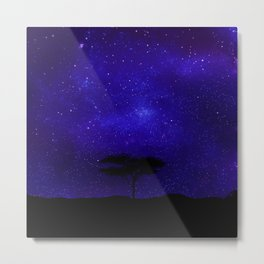 Acacia Tree Lost Beyond The Stars. Metal Print