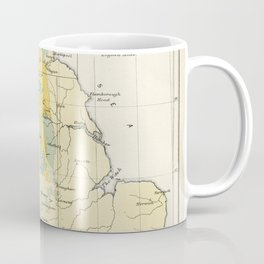 Vintage Map of the Coal Fields of Great Britain Coffee Mug