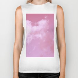 Dreaming floating candy on pink Biker Tank