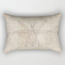 Da Vinci's Real Screw Invention Rectangular Pillow