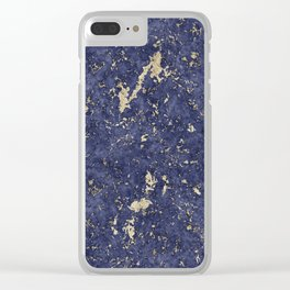 Royal Orchid Gold Marble Mine Clear iPhone Case
