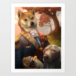 Royal Shiba Dog Portrait Art Print