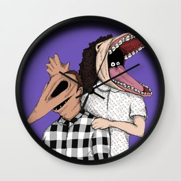 Family Portrait Of The Recently Deceased Wall Clock