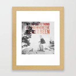 go new Framed Art Print