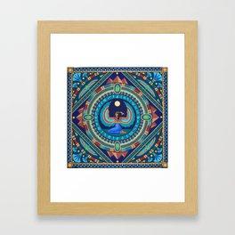 Egyptian Goddess Isis mandala by Soozie Wray Framed Art Print