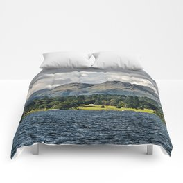 The Langdale Hills from Windermere, Lake District Comforters