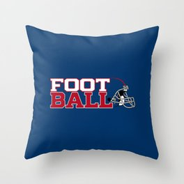 Football in Blue and Red Throw Pillow