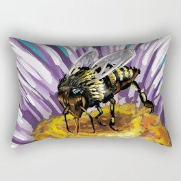 Wasp on flower 3 Rectangular Pillow