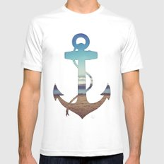 Anchored Mens Fitted Tee White MEDIUM