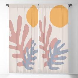 Henri Matisse Inspired Leaves Blackout Curtain