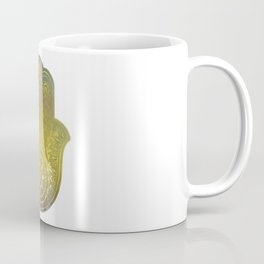 Colorful Watercolor And Gold Hamsa Hand - II Coffee Mug