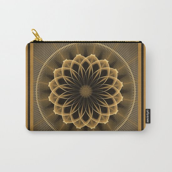 Trendy graphic flower mandala Carry-All Pouch