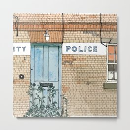 COUNTY POLICE Metal Print