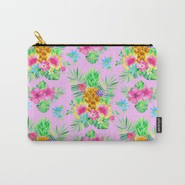 Tropical Vibes Pattern Pink Carry-All Pouch