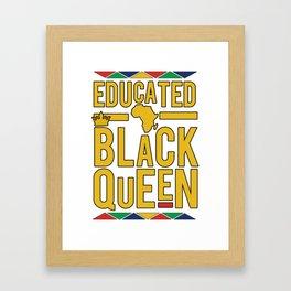 Educated Black Queen Framed Art Print