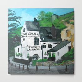 The Oldest Inn In England Acrylic Fine Art Metal Print