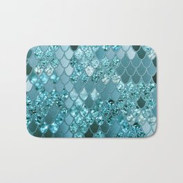 Mermaid Glitter Scales #4 #shiny #decor #art #society6 Bath Mat