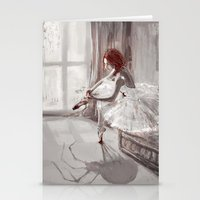 ballerina Stationery Cards featuring Ballerina by Monika Gross