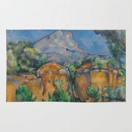 The Montagne Sainte-Victoire seen from the Bibémus quarry Rug