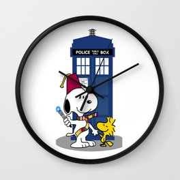 snoopy doctor who Wall Clock