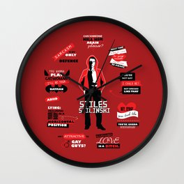 Stiles Stilinski Quotes Teen Wolf Wall Clock