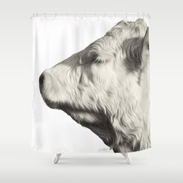 Bovine Profile Shower Curtain