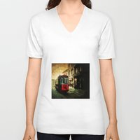 istanbul V-neck T-shirts featuring Istanbul by pinarinadresi