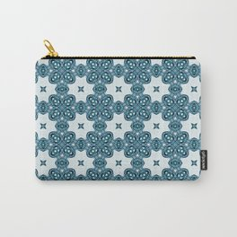 Abstract Moth - Blue Carry-All Pouch