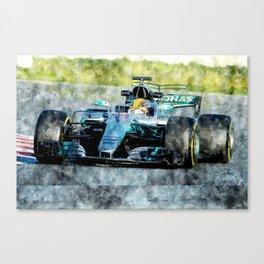 Lewis Hamilton 2017 Canvas Print
