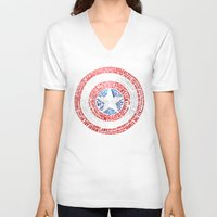 steve rogers V-neck T-shirts featuring Who is Steve Rogers? by dailymantra