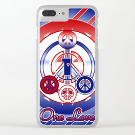 One Love (Patriot) Clear iPhone Case