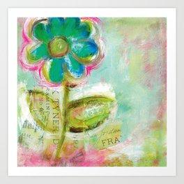 Le Bleuet Art Print