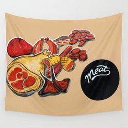 Red meat Wall Tapestry