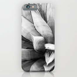 Botanical Succulents // Black and White Desert Cactus High Quality Photograph iPhone Case