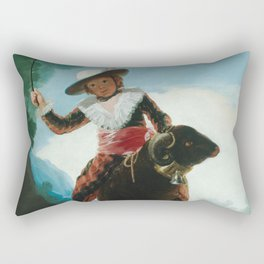 Francisco de Goya- Boy On A Ram Rectangular Pillow