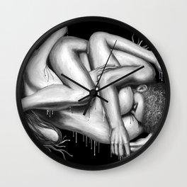 69 Sixty-nine b&w Wall Clock