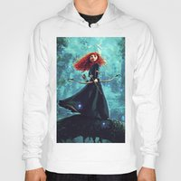 brave Hoodies featuring Brave by Juniper Vinetree