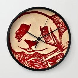 A Panda's Song Wall Clock