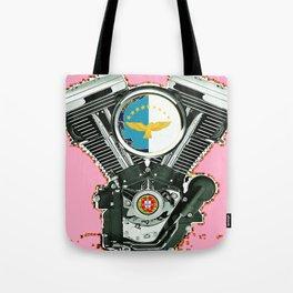 Portuguese Biker Culture in Hot Pink. Tote Bag