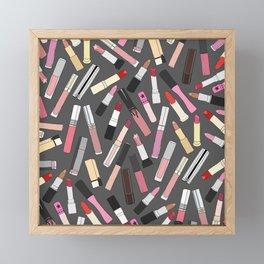 Lipstick Party - Dark Framed Mini Art Print