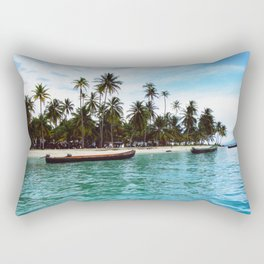san blas tropical island Rectangular Pillow