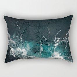 Bluish frothing ocean Rectangular Pillow