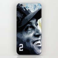 yankees iPhone & iPod Skins featuring The Captain by Prehistoric Robot
