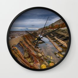 Hunstanton shipwreck Wall Clock