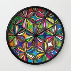 Ribbon Geometric Art Print. Wall Clock