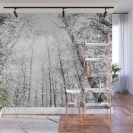 Black and white tree photography - Watercolor series #4 Wall Mural