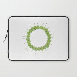 Green Wildflower Circle Laptop Sleeve