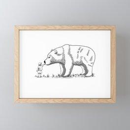 Encounter in the wild Framed Mini Art Print