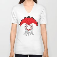 cock V-neck T-shirts featuring Cock by HandeAylan