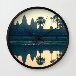 Angkor Wat Reflection Wall Clock